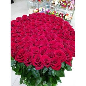 Купить букет из 101 розы в Комсомольске-на-Амуре