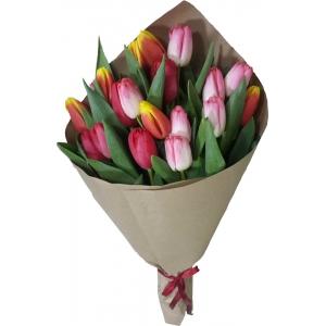 Купить букет из 19 тюльпанов в Комсомольске-на-Амуре