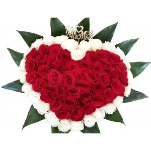Купить букет из роз в форме сердца в Комсомольске-на-Амуре