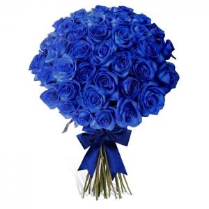 """Купить букет """"Милое облачко"""" из 21 синей розы в Комсомольске-на-Амуре"""