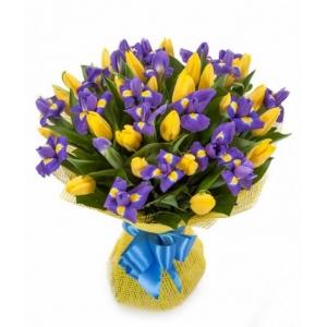Купить букет из тюльпана и ириса в Комсомольске-на-Амуре