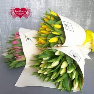 Купить букет из 35 тюльпанов в Комсомольске-на-Амуре