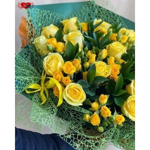 Купить букет из жёлтых роз с доставкой в Комсомольске-на-Амуре