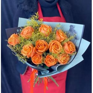 Купить букет «Orange day» с доставкой в Комсомольске-на-Амуре