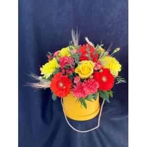 Купить коробку цветов «Букет Абхазии» с доставкой в Комсомольске-на-Амуре