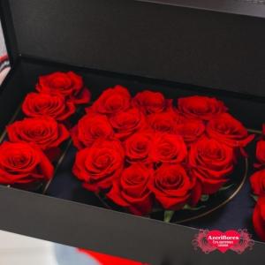Купить коробку цветов «I love U» с доставкой в Комсомольске-на-Амуре