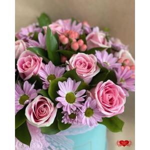 Купить коробку цветов «Улыбка» с доставкой в Комсомольске-на-Амуре