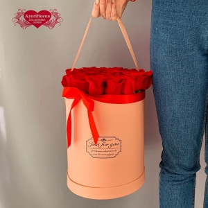 Купить коробку с 25 красными розами в Комсомольске-на-Амуре