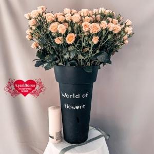 Купить розовую кустовую розу в Комсомольске-на-Амуре