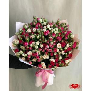Купить микс из кустовых роз с доставкой в Комсомольске-на-Амуре