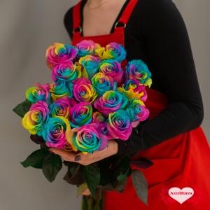 Купить радужные розы в Комсомольске-на-Амуре