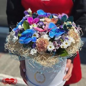 Летняя коробка цветов с доставкой в Комсомольске-на-Амуре