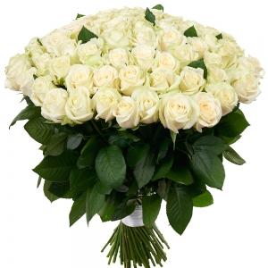Купить охапка из 101 белых роз в Комсомольске-на-Амуре