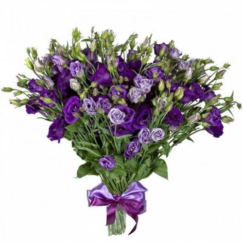 Купить букет из фиолетового лизиантуса в Комсомольске-на-Амуре