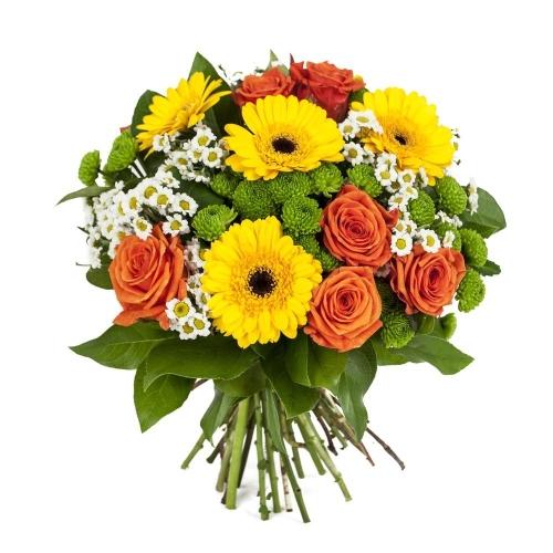 Купить букет из герб, роз и хризантем в Комсомольске-на-Амуре