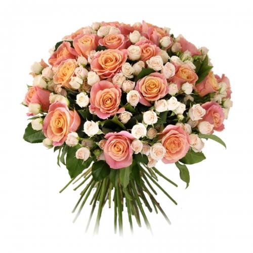 Купить букет из мини и кустовых роз в Комсомольске-на-Амуре