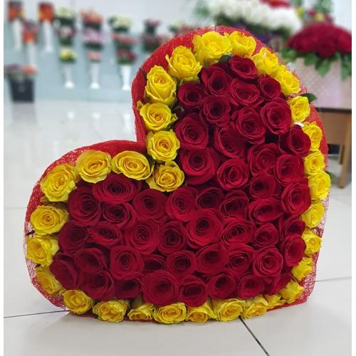 Купить букет сердца в Комсомольске-на-Амуре