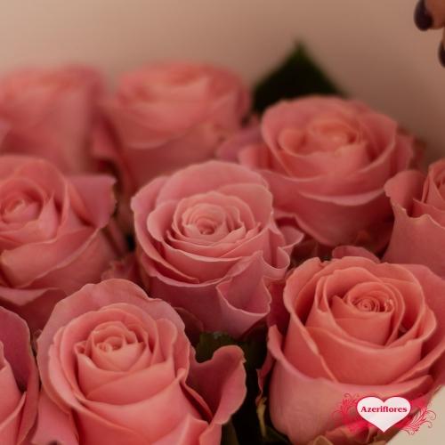 """Купить букет """"Розовая нежность"""" из 11 розовых роз в Комсомольске-на-Амуре"""