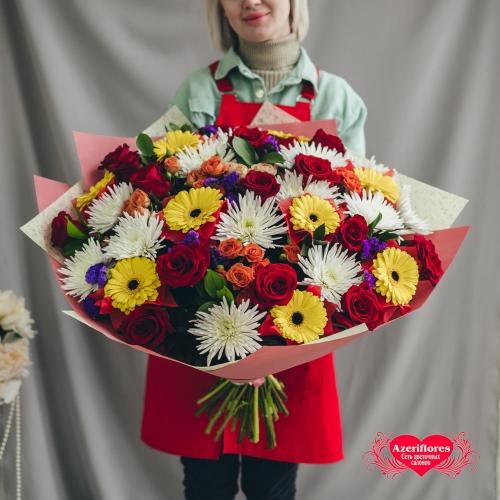 Купить букет «Счастье - это просто...» в Комсомольске-на-Амуре
