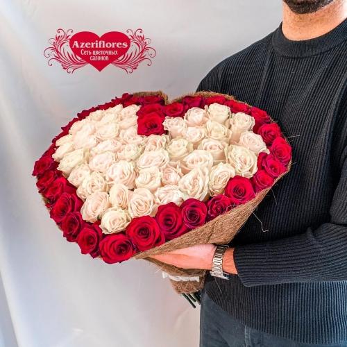 Купить букет в виде сердца в Комсомольске-на-Амуре