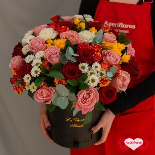 Купить коробку цветов «Эйфория чувств» в Комсомольске-на-Амуре