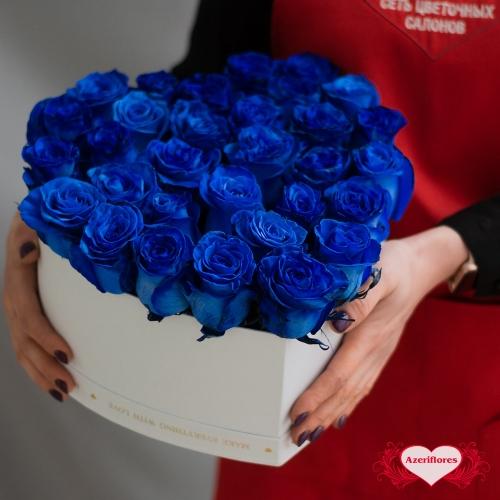 Коробка цветов в форме сердца «Чудо» с доставкой в Комсомольске-на-Амуре