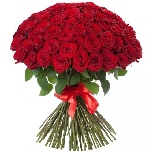 Купить охапку красных роз в Комсомольске-на-Амуре
